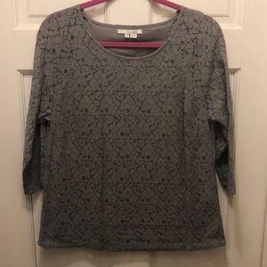 Boden Grey Lace Blouse